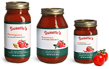 Glass Pasta Sauce Jars w/ Two Piece Canning Lids