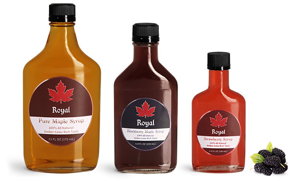 Clear Glass Maple Syrup Bottles