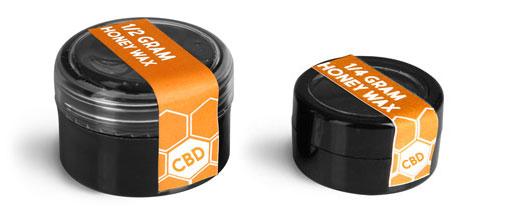 Plastic CBD Concentrate Jars