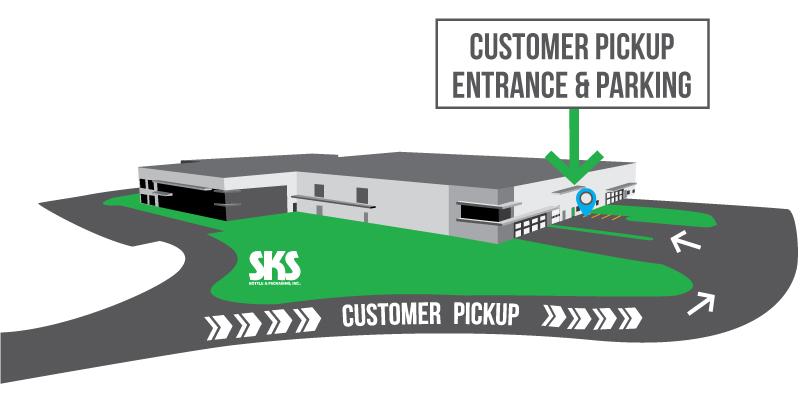 Customer Pickup Center Map