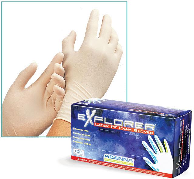 Explorer Latex Extra-Thick Powder Free Exam Gloves