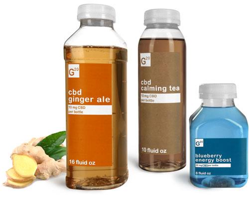 Plastic CBD Infused Drink Bottles