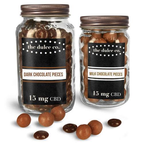 Glass Jars For CBD Chocolates