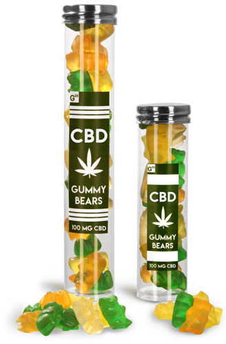 CBD Edible Gummy Bear Tubes