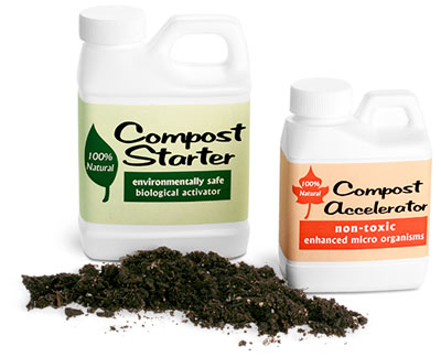 White F-Style Compost Starter Jugs