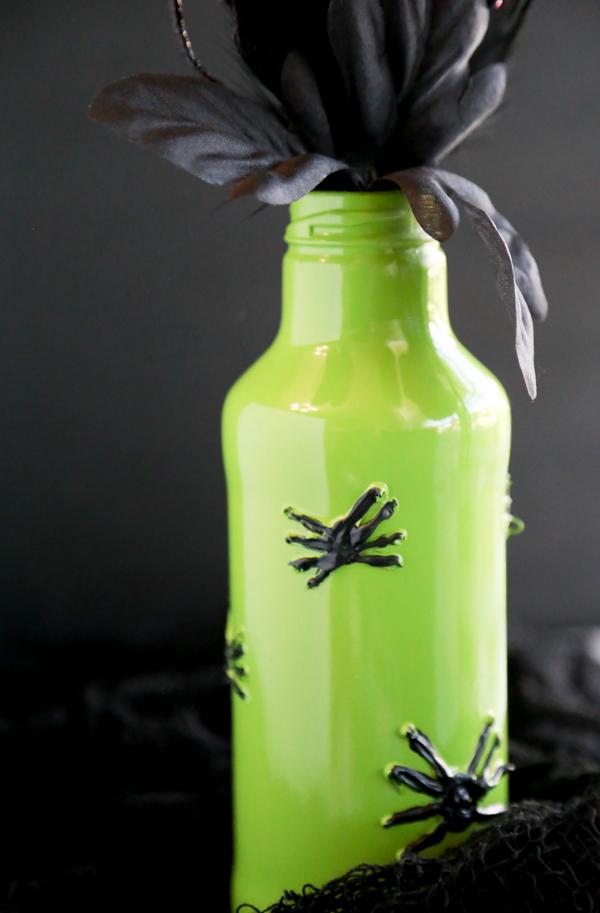 Painted Spider Vase