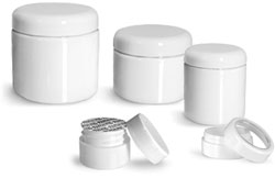 White Plastic Jars for Skincare Promo