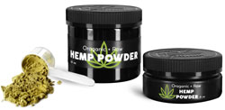 Black Plastic Hemp Powder Jars