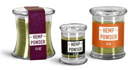 Glass Hemp Powder Jars
