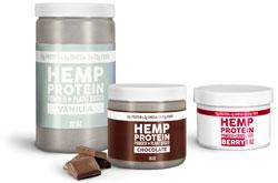 Hemp Protein Powder Plastic Jars