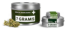 Cannabis Flower Packaging, Medical Marijuana Tins