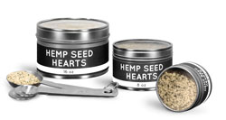 Clear Top Hemp Seed Tins