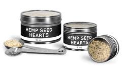 Clear Top Hemp Seed Tins