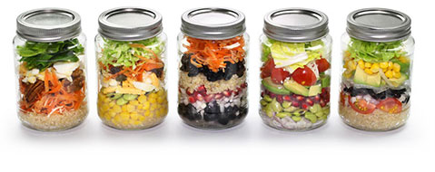 Glass Mason Jar Meals