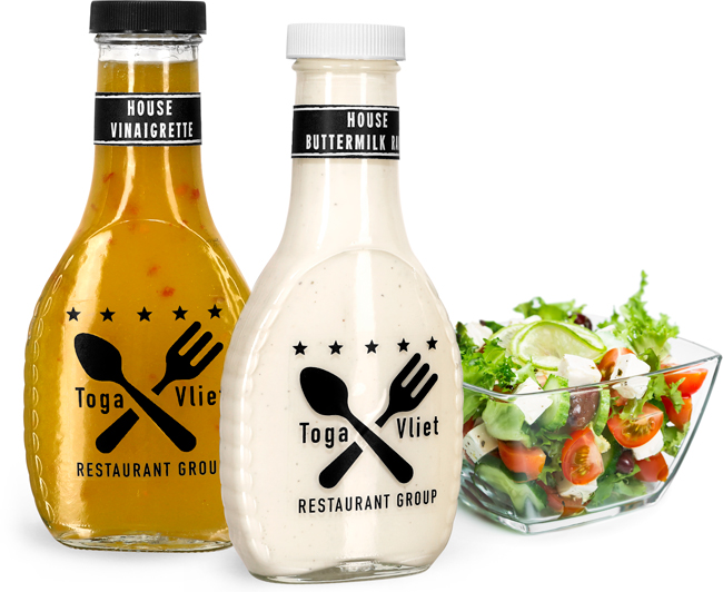 Glass Salad Dressing Bottles for Food Service