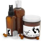 Foot Soak, Foot Scrub & Foot Spray Containers