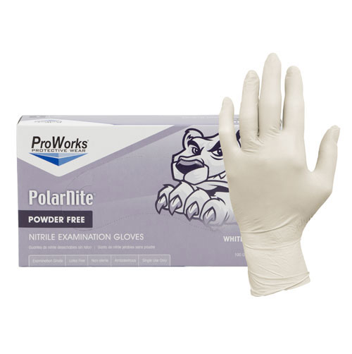 Nitrile Gloves, White Nitrile Powder Free Exam Gloves
