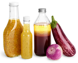 Glass Salad Dressing Bottles