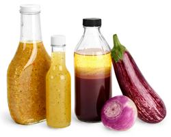 Glass Salad Dressing Bottles