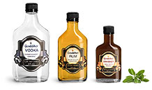 Clear Glass Liquor Flask Bottles