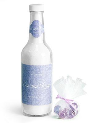Clear Glass Woozy Bottle Wedding Favor Ideas