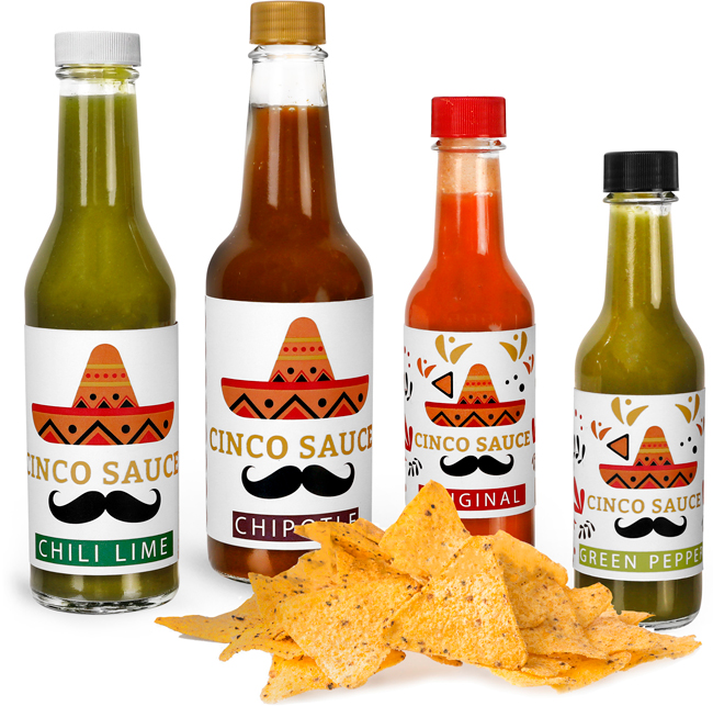 Glass Hot Sauce Bottles