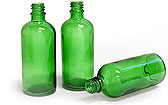 100 ml Green Glass Bottles