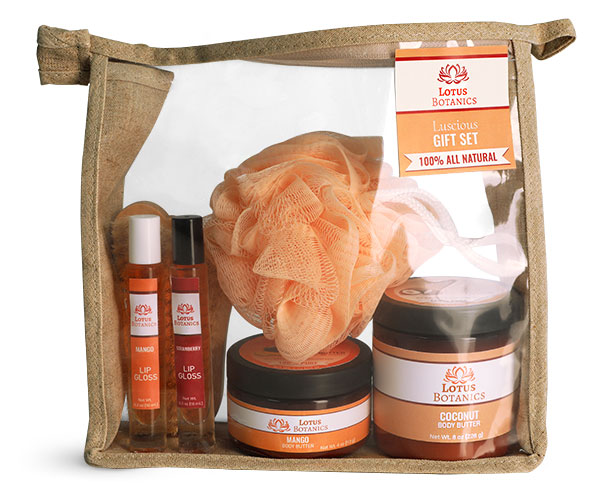 Hemp Zipper Bags For Cosmetic Gift Sets
