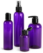 Purple Plastic Bottles