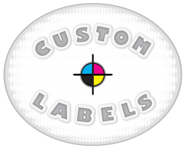 Oval Labels, White Paper w/ Matte Finish