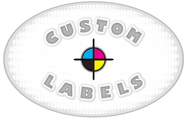 Oval Labels, White Paper w/ Glossy Finish