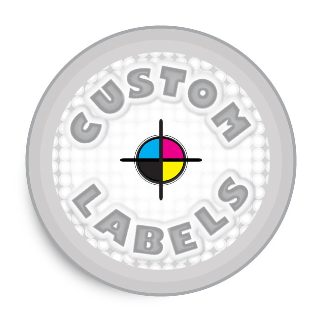 Round Labels, Clear Polypro w/ Glossy Finish