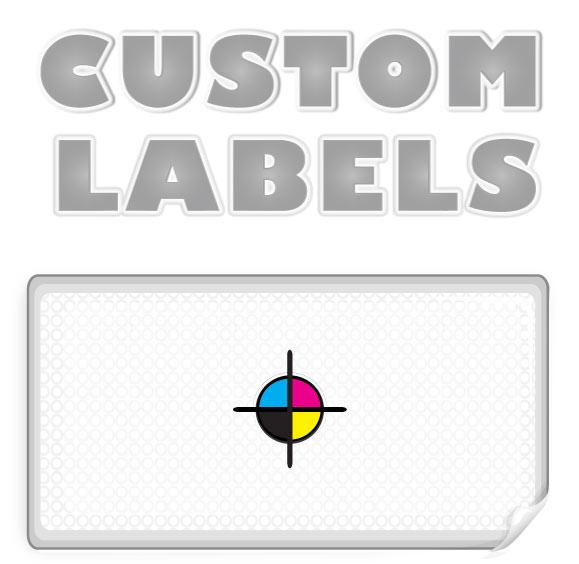 Rectangular Labels, White Paper w/ Glossy Finish