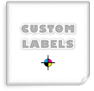 Square Labels, White Paper w/ Glossy Finish
