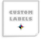 Square Labels, White Paper w/ Matte Finish