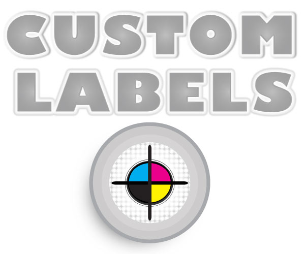 Round Labels, White Paper w/ Glossy Finish