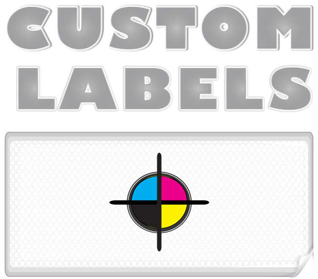 Rectangular Labels, White Paper w/ Glossy Finish