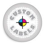 Round Labels, White Paper w/ Glossy Finish Round Labels, White Paper w/ Glossy Finish