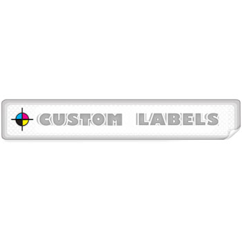 Rectangular Labels, Glossy Finish Printed On White Paper