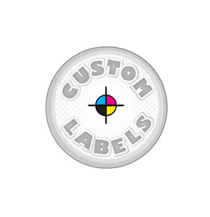 Round Labels, Glossy Finish Printed On Polypro