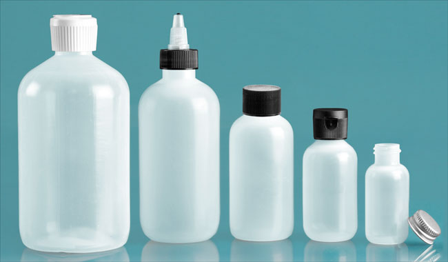 LDPE Boston Round Bottles