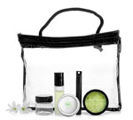 Clear Vinyl Bags With Black Zipper and Rope Handle