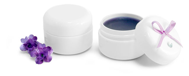 White Polypro Double Wall Lip Balm Jars