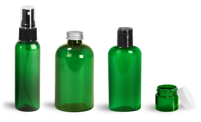 Green Pet Bottles & Jars
