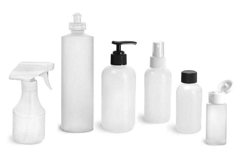 Natural HDPE Bottles