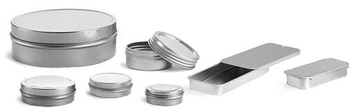 Flat Metal Tins