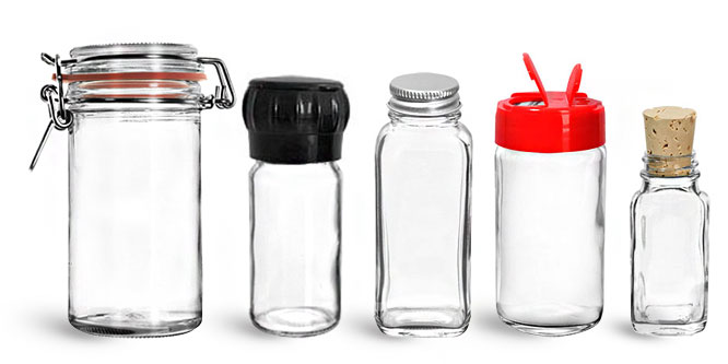 Glass Spice Containers