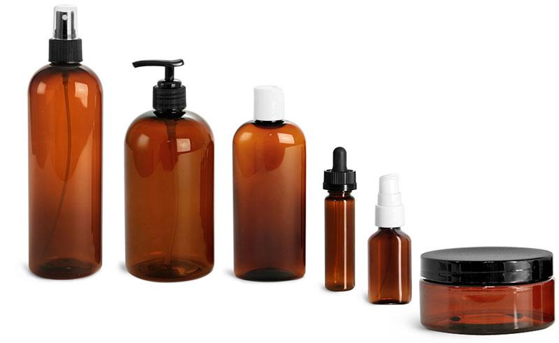 Amber PET Bottles & Jars