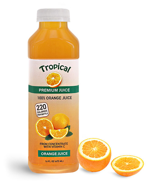 Plastic Orange Juice Bottles