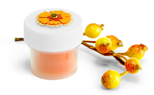 Natural Plastic Lip Balm Jars w/ White Caps
